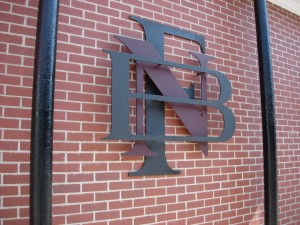 First National Bank of Monterey Logo on the Annex in Monterey