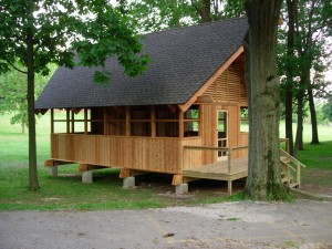 CEF Woodcraft Camp Counselor's Cabin under construction