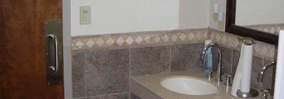 Mens Room Sinks & Counter
