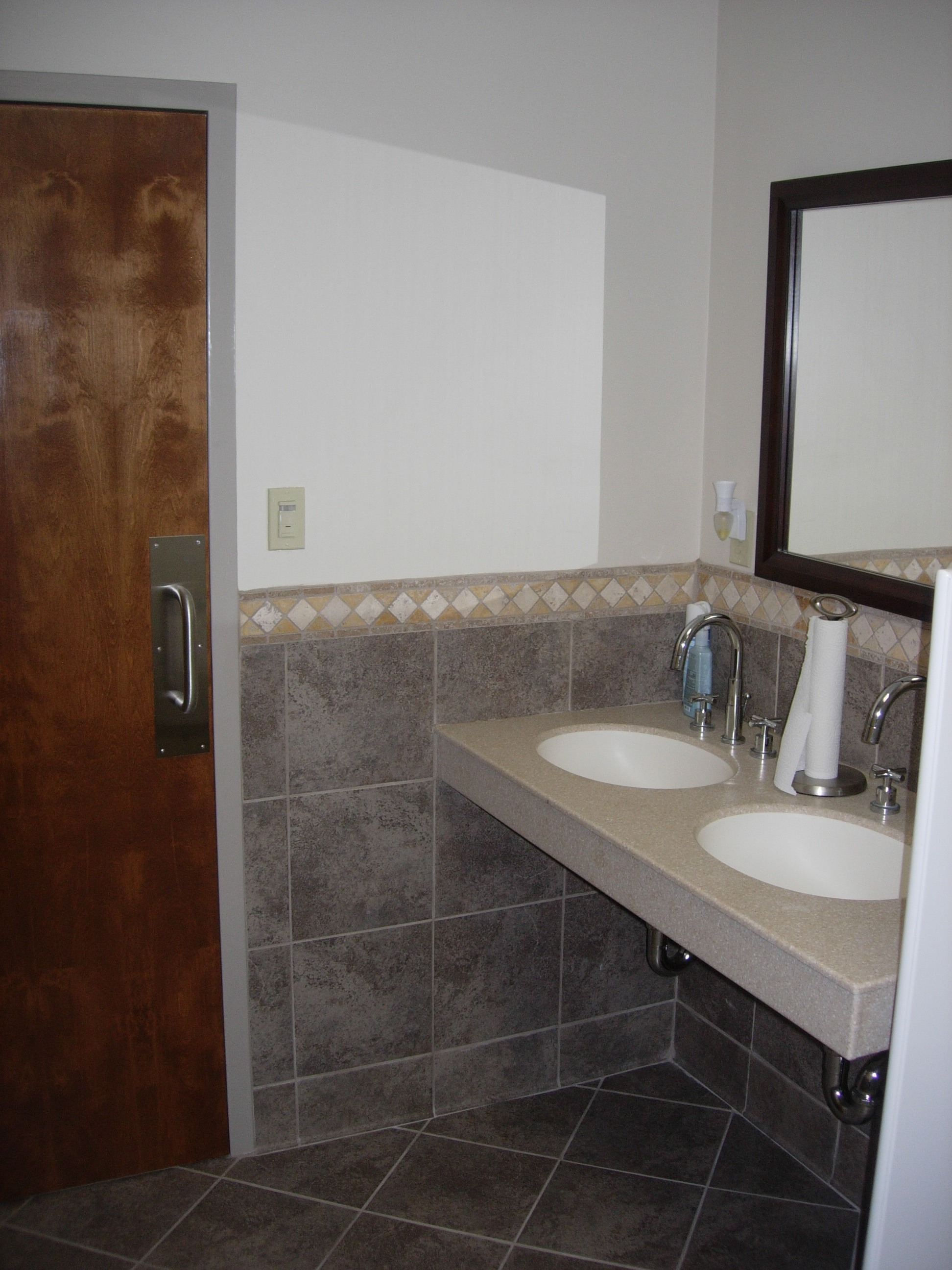 Interior Restroom Remodel grace baptist church restroom remodel easterday construction mens room sinks counter