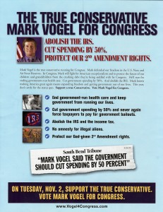 Mark Vogel Campaign Flyer Front