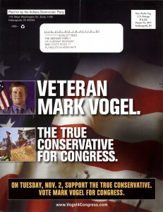 Mark Vogel Campaign Flyer Back