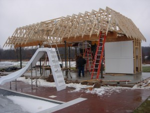 Cabana Truss Installation Underway