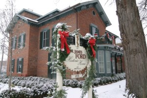 Dr. James Ford Historic Home at Christmas
