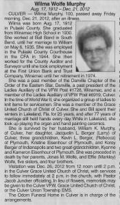 Wilma Murphy Obituary