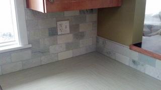 Tervertine Tile backsplash detail
