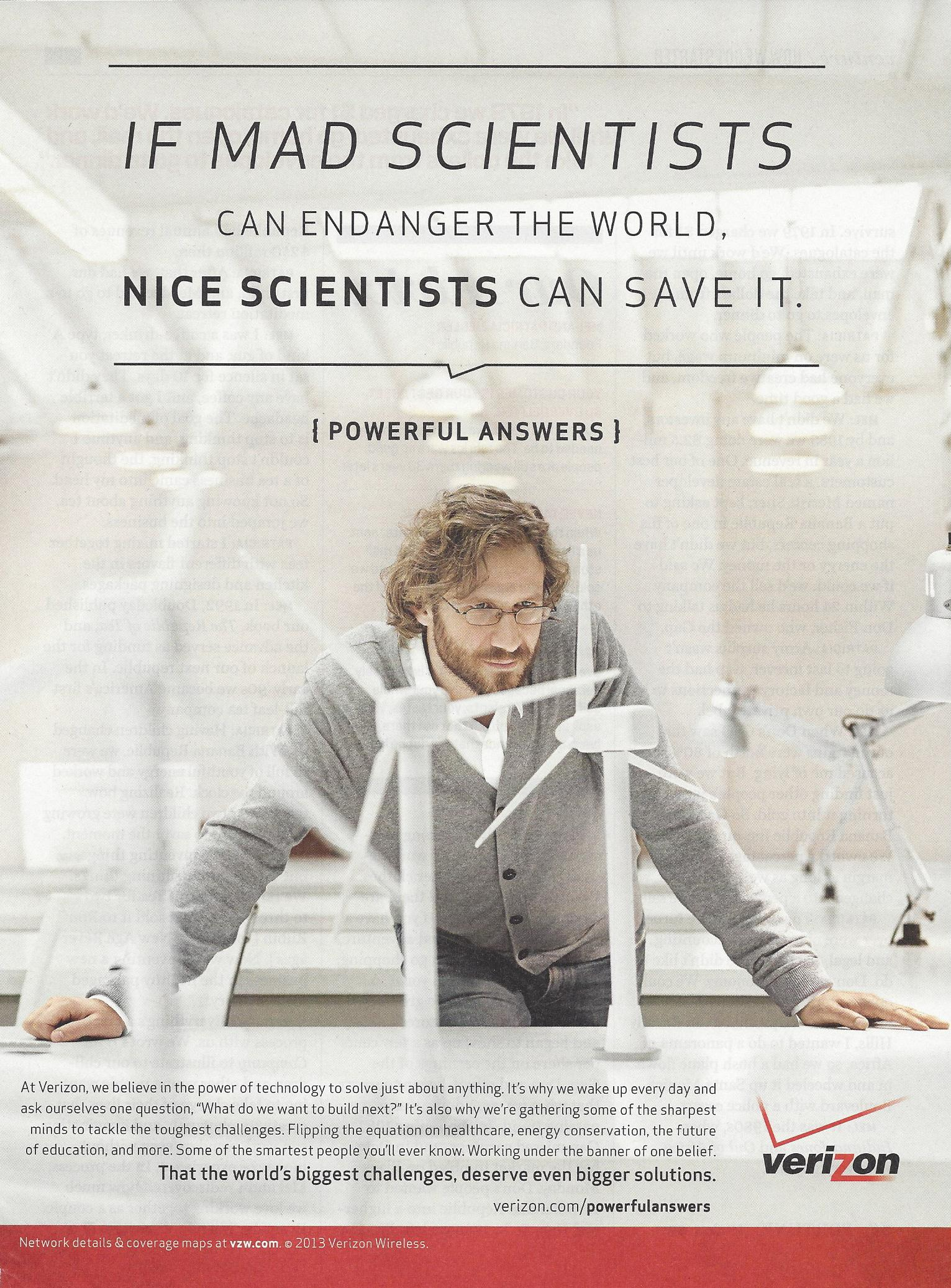 Verizon Mad Scientist Ad
