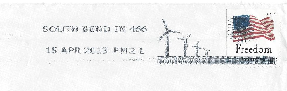 Wind Farm Postmark 4-16-13