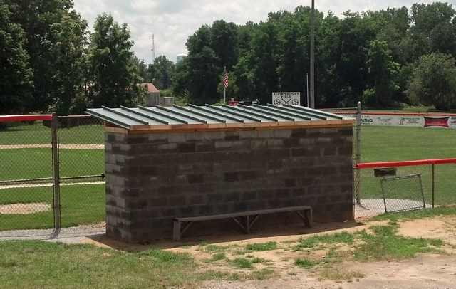 "Culver LIttle League Dugout with ""Easterday Green"" Metal Roof"