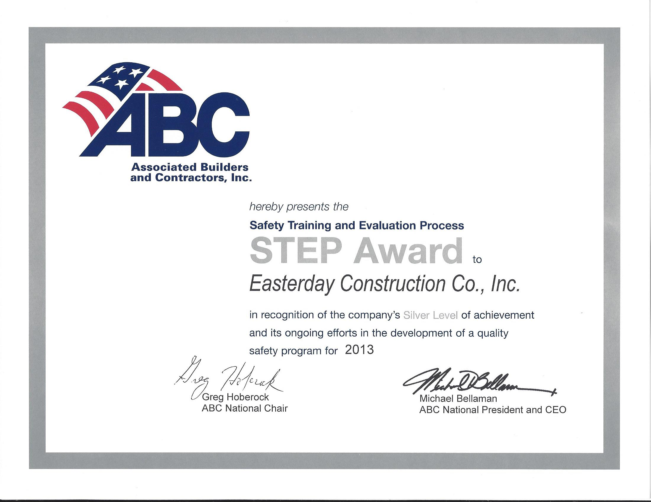 ABC STEP Award 2013