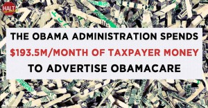 Obamacare Advertising Costs from Halt the Assault
