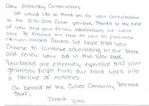 Calvalcade Thank You '14 - 2