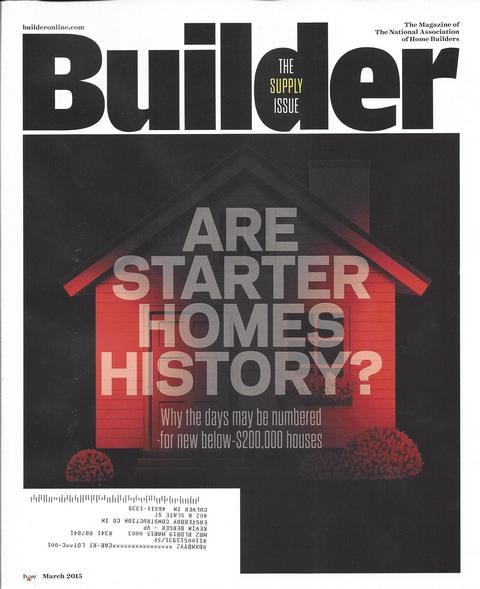 Builder Magazine Cover - March '15