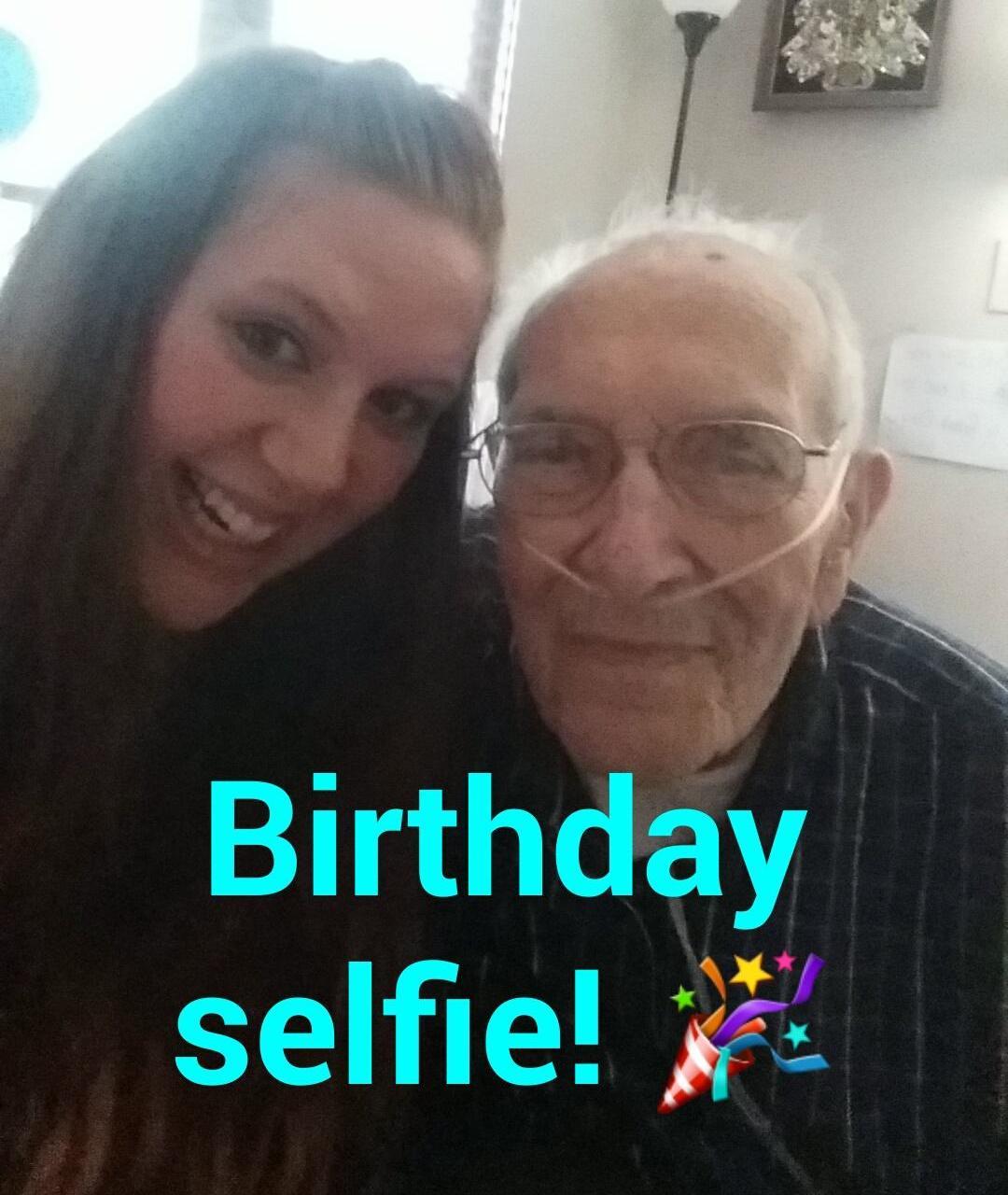 Kyanne and Grandpa Murphy 101