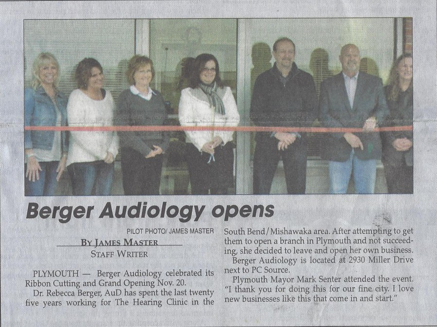 Berger Audiology Ribbon Cutting - Pilot News 11-21-15