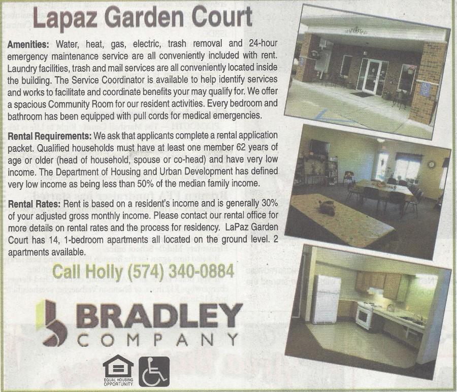 Lapaz Garden Court ad