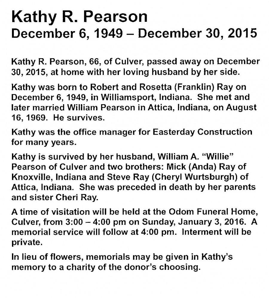 Kathy Pearson's Obituary