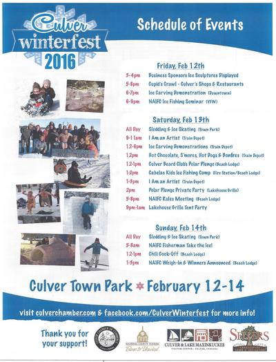 winterfest 2016 Schedule of Events