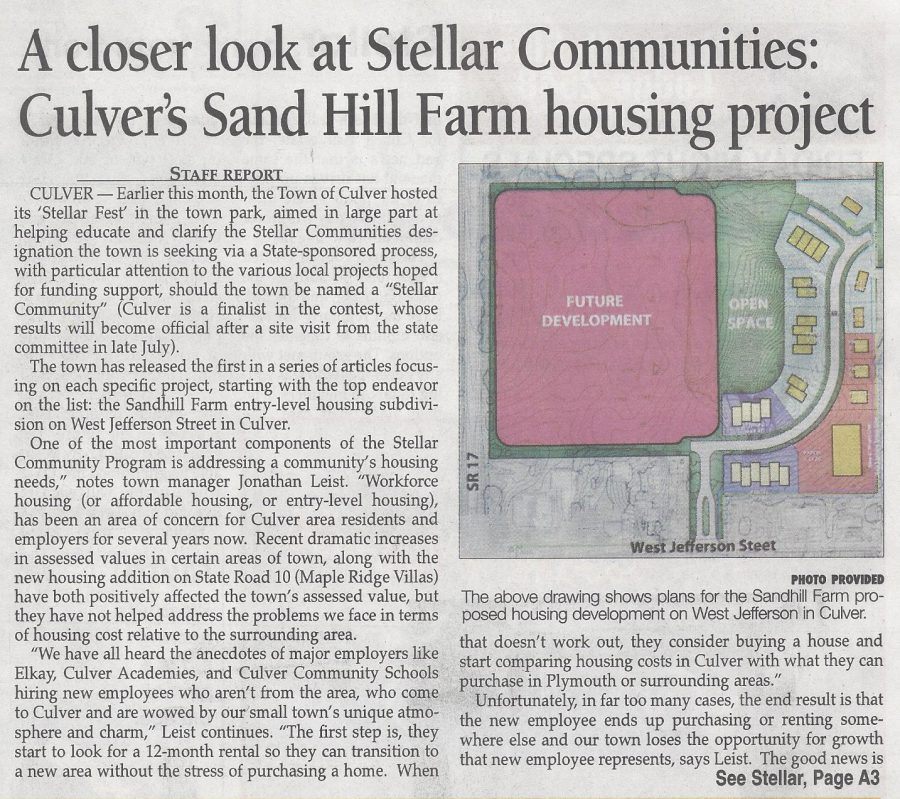 Stellar Sand Hill Farm 1 Pilot News 6-23-16